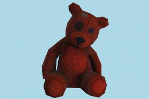 Teddy teddy, bear, toy, game, fun, play, lowpoly