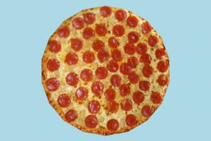 Pizza Pepperoni pizza, food, foods, cook, lowpoly
