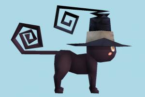 Cat halloween, cat, animal, animals, cartoon, lowpoly