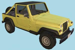 Jeep 4x4 jeep, 4x4, car, truck, vehicle, carriage, transport, yellow, offroad, hummer