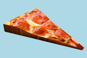 Pizza Slice pizza-part, pizza, food, foods, cook, lowpoly