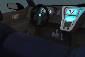 SUV Racing Sportive Car with Interior details