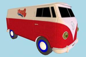 VolksWagen Van VK, volkswagen, van, bus, car, vehicle, truck, carriage, transport, toon