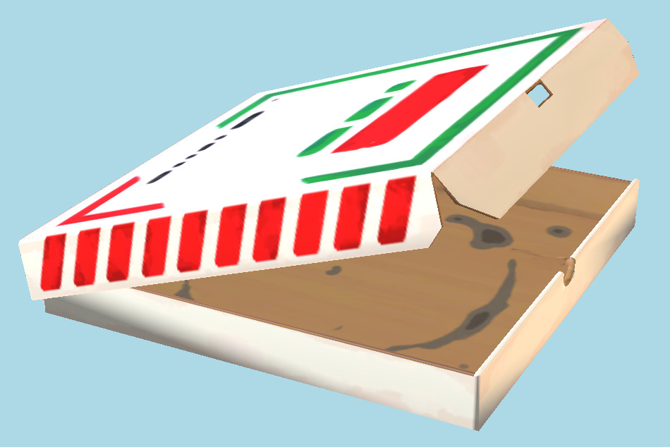 Pizza Box Lis Popped 3d model