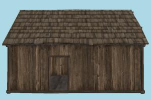 Wooden Hut hut, cottage, shanty, shack, cabin, small, house, home, farm, country