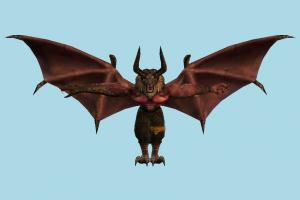 Tekken True Ogre tekken, fly, character, animal, animal-character, monster, dragon, beast