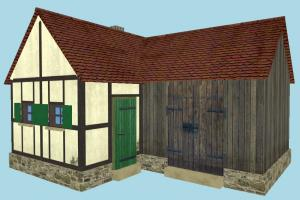 Farm House barn, farm, house, town, country, home, building, build, residence, domicile, structure