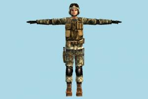 Soldier army-man, army, soldier, military, man, male, people, human, character