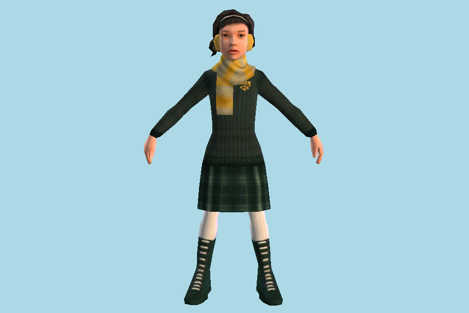 Bully: Scholarship Edition Melody Adams Little Girl 3d model