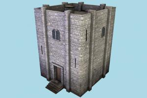 Building castle, tower, dungeon, house, stronghold, building, build, domicile, structure