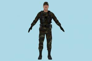Army Man army-man, army, soldier, military, man, male, people, human, character