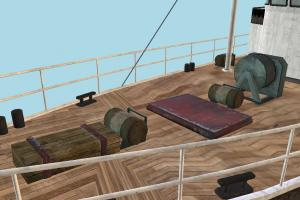 Fishing Boat Model with Textures
