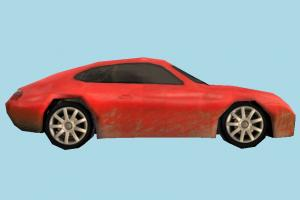 Car Red Low-poly car, vehicle, truck, transport, carriage, red, low-poly