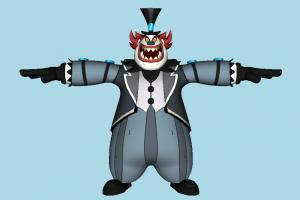 Ben 10 Zombozo Ben10, clown, halloween, joker, ben, ten, man, male, people, human, character, cartoon