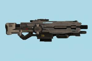 Sci-Fi Shotgun scifi, shotgun, auto-gun, handgun, weapon, gun, firearm, arm