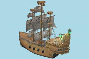 Pirate Ship galleon, pirate-ship, boat, sailboat, pirate, watercraft, ship, historic, sail, exploration, boss, battle, platformer, foe, sailship, fantasy, sea