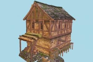 House house, farm, town, country, wood, wooden, home, building, build, residence, domicile, structure
