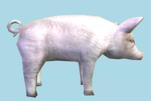 Pig Low-poly pig, animal, animals, wild, nature, mammal, ruminant, zoology, low-poly