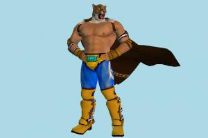 Tekken 7 King Tekken, character, tiger, animal-character, people, human