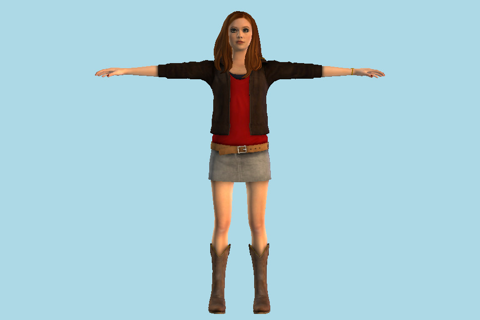 Doctor Who: The Adventure Games Amy Girl 3d model