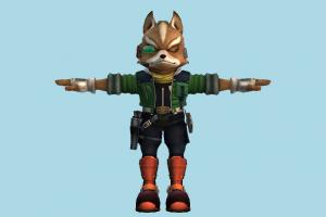 Brawl Fit Fox animal-character, character, cartoon, fox