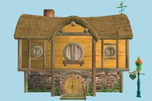 Country House barn, farm, country, hut, cottage, house, town, home, building, build, residence, domicile, structure