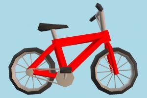 Bicycle Low-poly bicycle, bike, motorcycle, motor, cycle