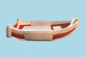 Boat boat, sailboat, watercraft, ship, vessel, sail, sea, maritime, cartoon, lowpoly