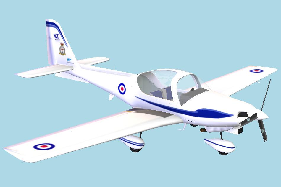 Water Plane 3D Model