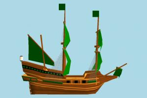 Galleon Ship galleon, pirate-ship, boat, sailboat, pirate, ship, watercraft, vessel, wooden, maritime, cartoon