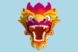 Dragon Head head, face, dragon, clown, cartoon