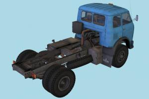 MAZ 500 Tractor Truck Rig