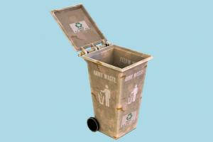 Trash dumpster, trash, recycling, recycle, garbage, can, waste, rusty, urban, refuse, street, object