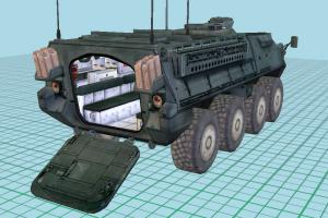IAV Stryker Combat Vehicle - Tank with Interior Details