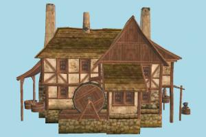 Workshop House barn, farm, house, town, country, home, building, build, residence, domicile, structure