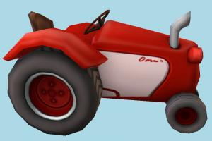 Tractor Toony Low-poly tractor, farm, truck, vehicle, toon