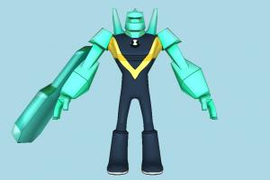 Diamondhead Ben10, ben, ten, grendizer, character, robot, cartoon