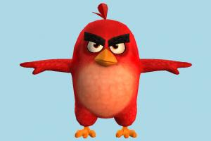 Angry Birds Red Angry-Birds, character, bird, cartoon, toony