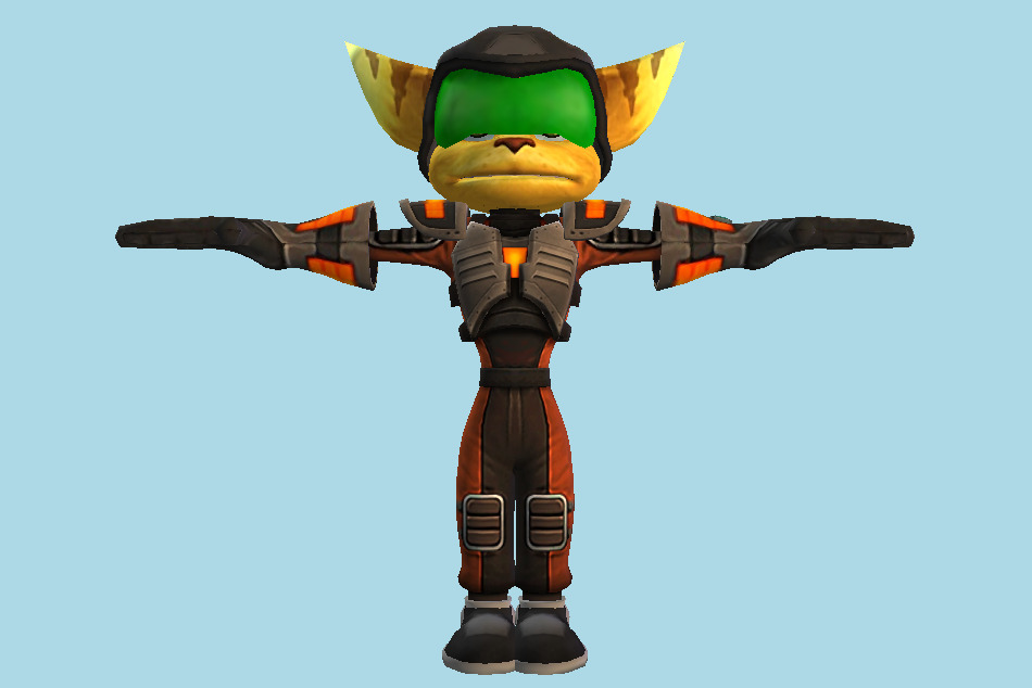 Ratchet and Clank: Going Commando Duraplate Armor 3d model