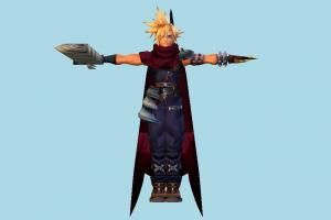Cloud final-fantasy, boy, child, male, man, people, human, character, cartoon, fantasy