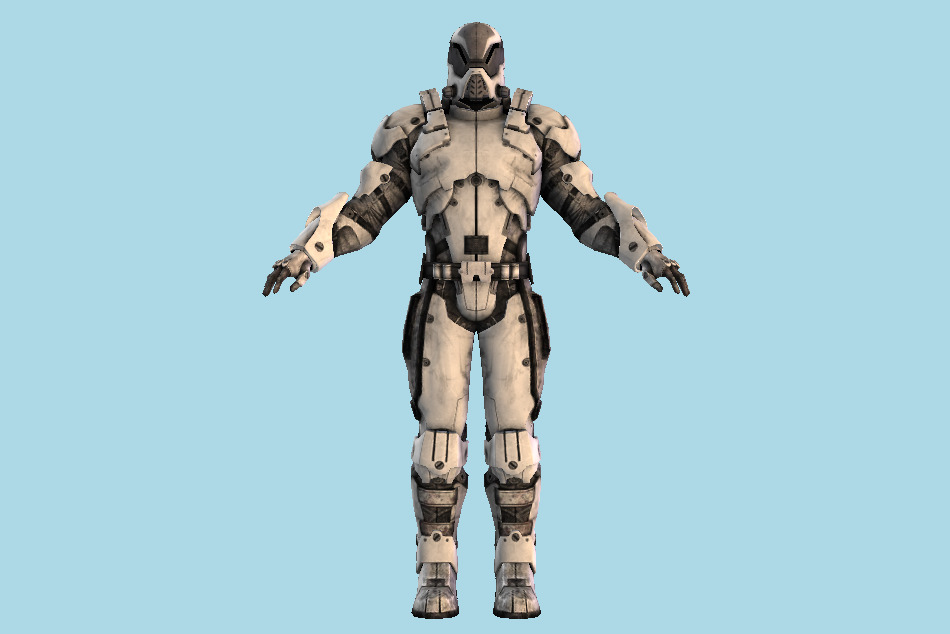 Mass Effect Robot Soldier (Male) 3d model