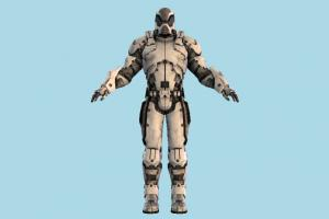 Mass Effect Robot robot, android, mech, mechanical, fighter, soldier, male, human, people, character