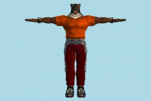 Tekken King tekken, character, tiger, people, human, animal-character