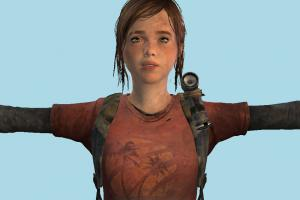 The Last Of Us - Ellie Girl T-pose