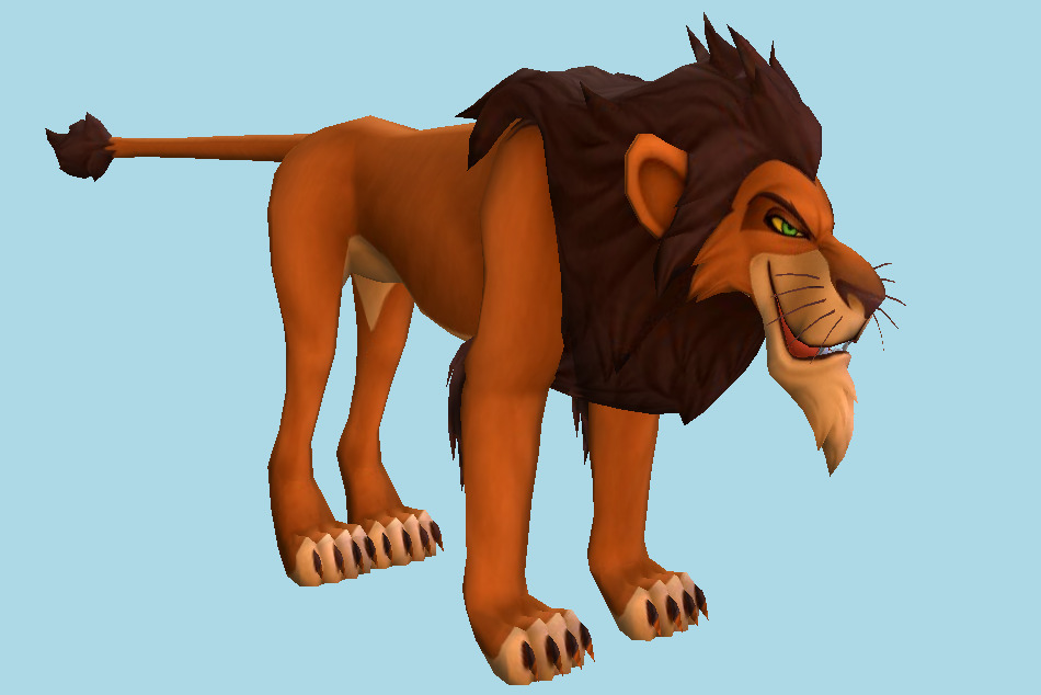 Scar The Lion-King Character 3d model