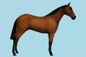 Horse Low-poly horse, animal, animals, wild, nature, mammal, ruminant, zoology, africa, forest, jungle, predator, prey, low-poly