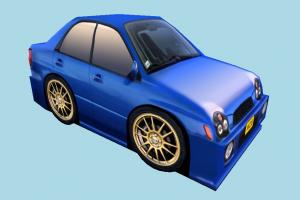 Low-poly Car car, speed, toon, low-poly, vehicle, subaru