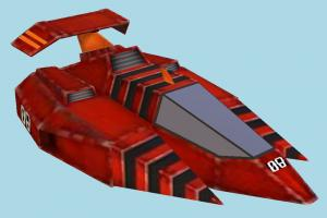 SpaceShip spaceship, spacecraft, space, ship, craft, aircraft, airplane, plane, air, lowpoly, vessel