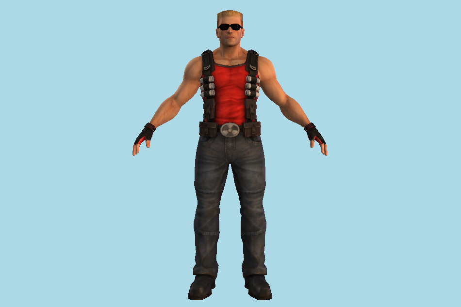 Duke Nukem Man 3d model