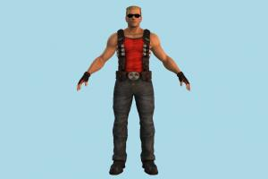 Duke Nukem man, male, people, human, character, strong, muscles, fighter